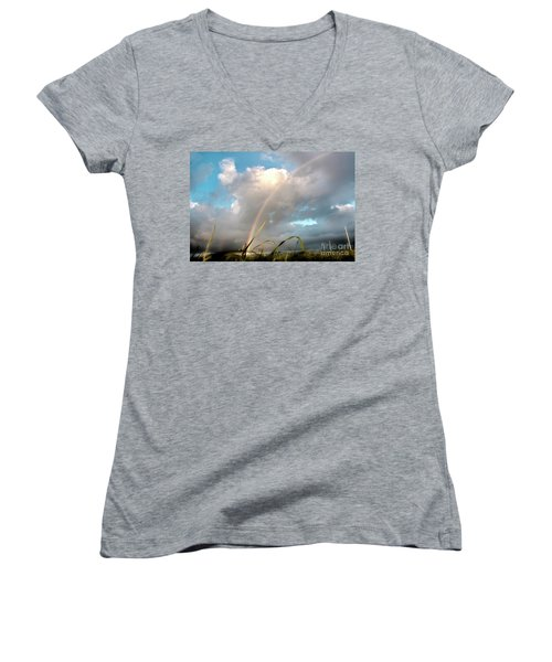 Dreams Of A Rainbow Women's V-Neck (Athletic Fit)