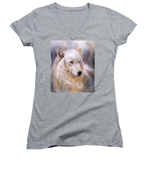 Dreamscape - Wolf II Women's V-Neck T-Shirt