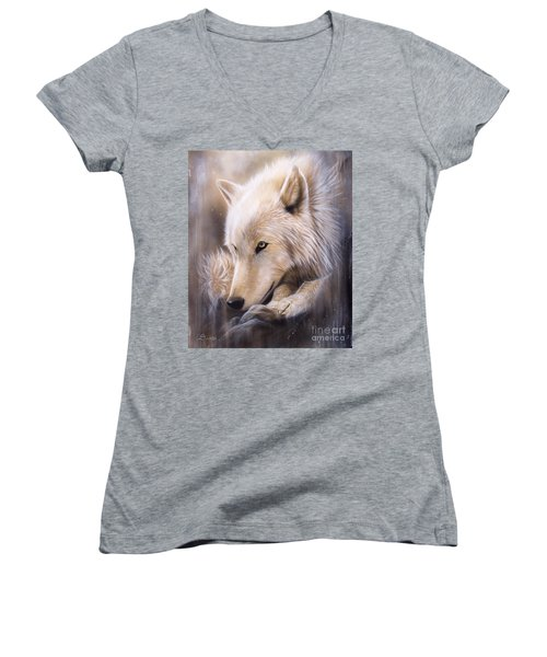 Dreamscape - Wolf Women's V-Neck T-Shirt