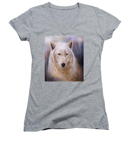 Dreamscape Wolf IIi Women's V-Neck T-Shirt
