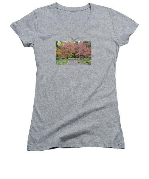 Women's V-Neck T-Shirt (Junior Cut) featuring the photograph Dreamwalk by Deborah  Crew-Johnson