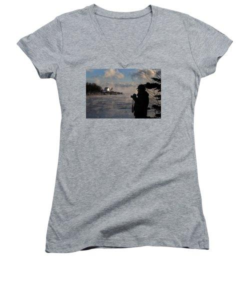 Dressed For Sea Smoke Women's V-Neck