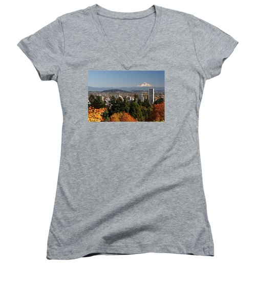 Dressed In Fall Colors Women's V-Neck