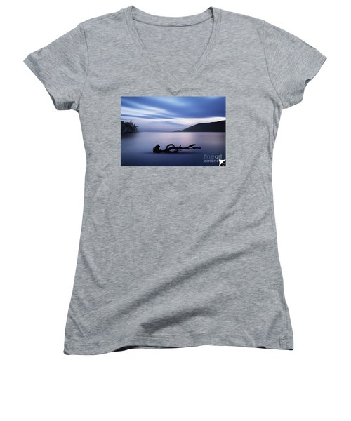 Women's V-Neck T-Shirt (Junior Cut) featuring the photograph Driftwood by Jim  Hatch