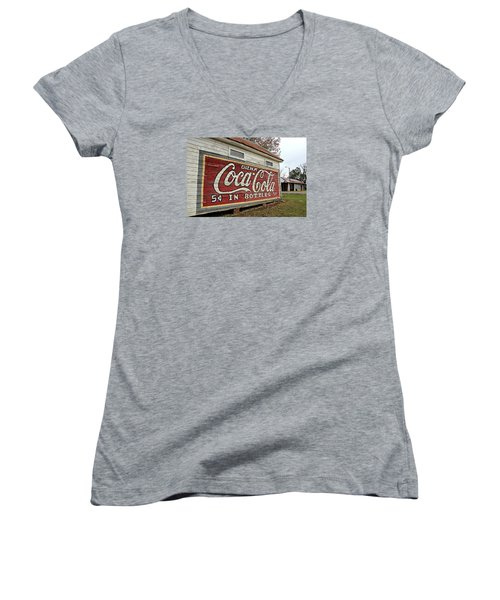 Drink Coca-cola Women's V-Neck (Athletic Fit)