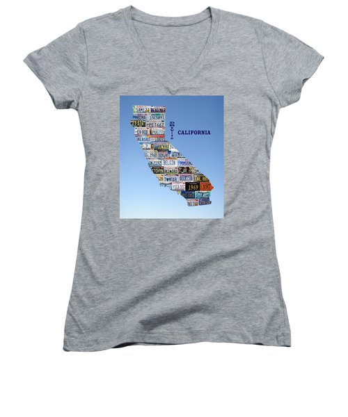 Driving California Women's V-Neck T-Shirt (Junior Cut) by Jewels Blake Hamrick