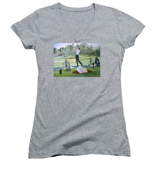 Driving Pine Hills Women's V-Neck (Athletic Fit)