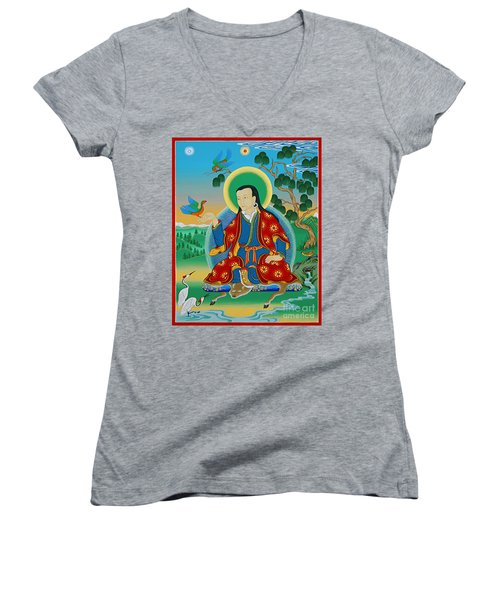 Drokben Khyecung Lotsawa Women's V-Neck T-Shirt (Junior Cut) by Sergey Noskov