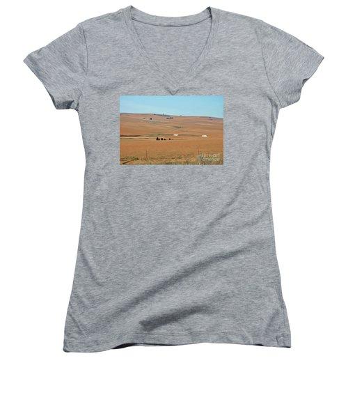 Drought-stricken South African Farmlands - 1 Of 3  Women's V-Neck T-Shirt