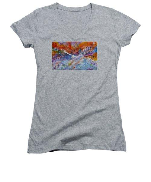 Drown Me In Love Women's V-Neck T-Shirt (Junior Cut) by Tracy Bonin