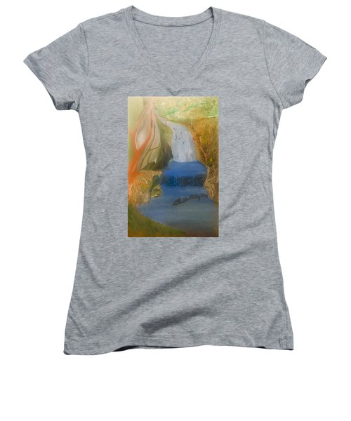 Drowning At 7 Conversations Series Women's V-Neck (Athletic Fit)