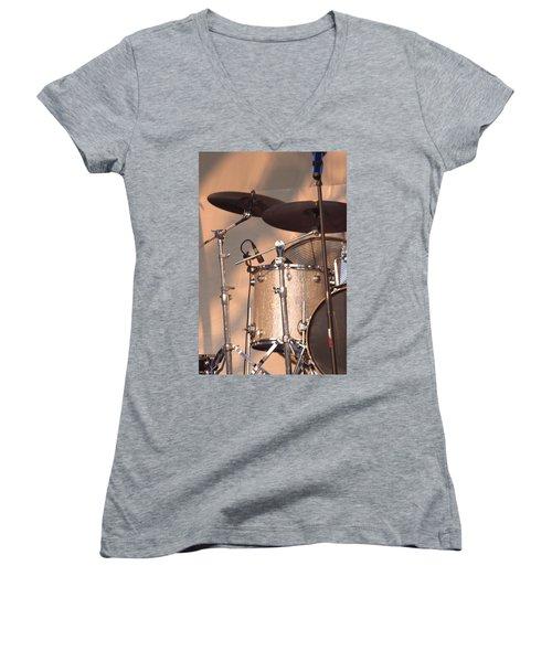 Drum Set Women's V-Neck