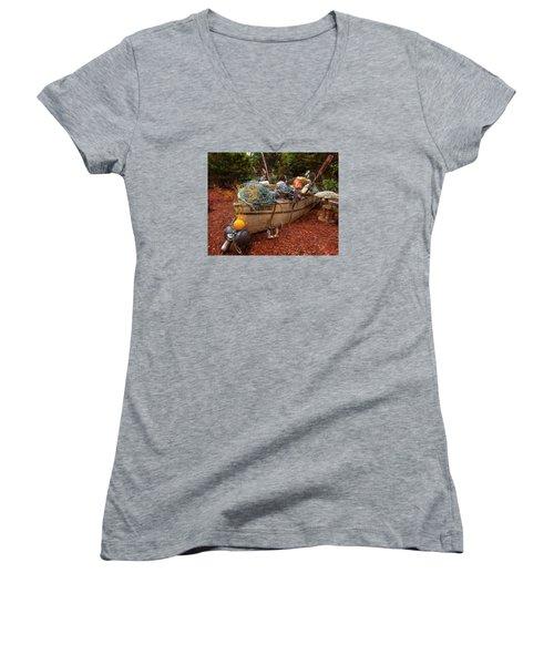 Dry Dock Art Women's V-Neck T-Shirt (Junior Cut) by Thom Zehrfeld