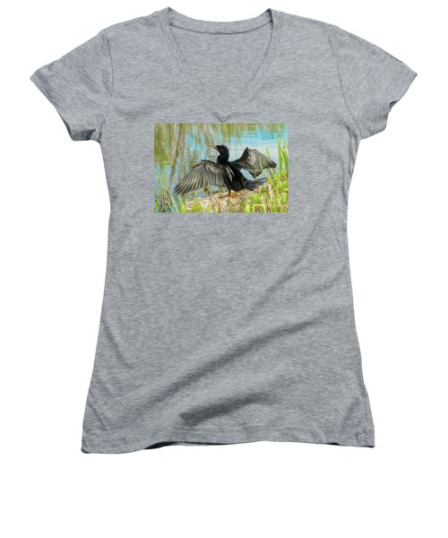 Drying Out Women's V-Neck (Athletic Fit)