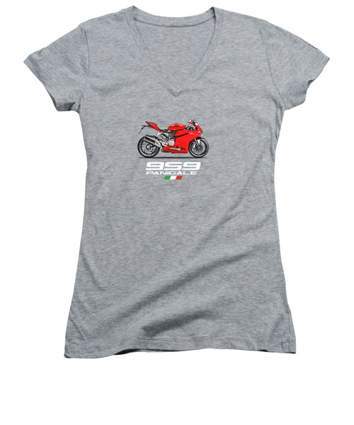 Ducati Panigale 959 Women's V-Neck (Athletic Fit)