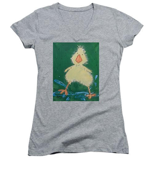 Duckling 1 Women's V-Neck (Athletic Fit)