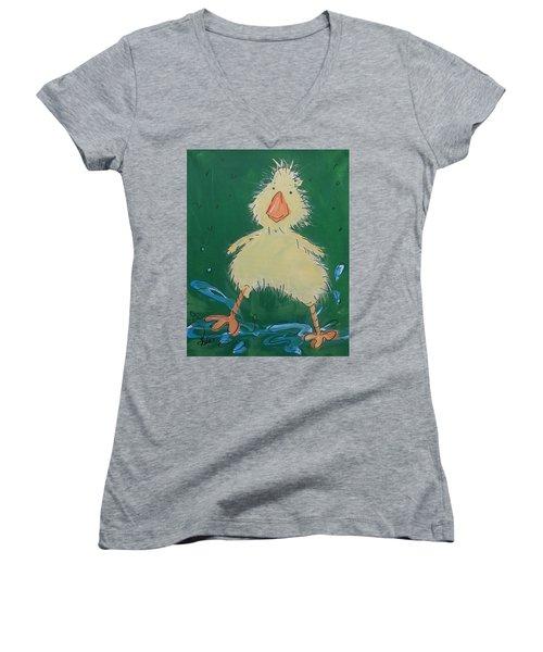 Duckling 1 Women's V-Neck T-Shirt