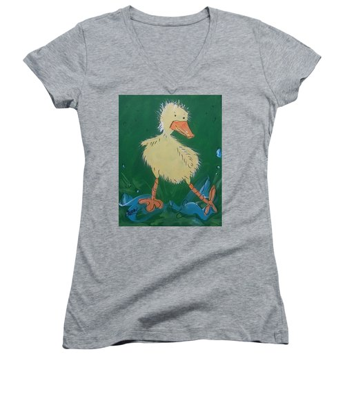Duckling 3 Women's V-Neck (Athletic Fit)