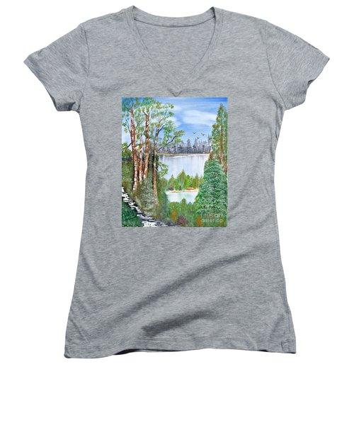 Dueling Lakes Women's V-Neck (Athletic Fit)