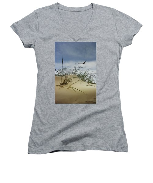 Dune And Beach Grass Women's V-Neck T-Shirt