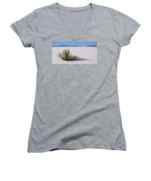 Dune Plant Women's V-Neck T-Shirt (Junior Cut) by Marie Leslie