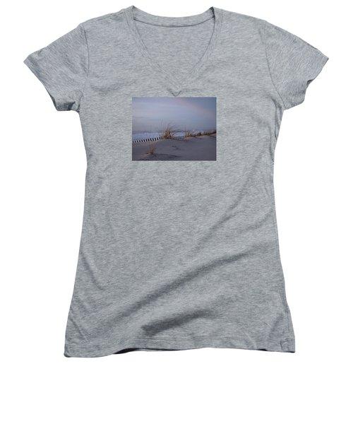 Dune View 2 Women's V-Neck T-Shirt (Junior Cut) by  Newwwman