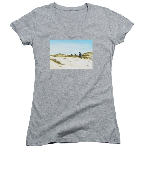 Dune Walker Province Lands Women's V-Neck (Athletic Fit)
