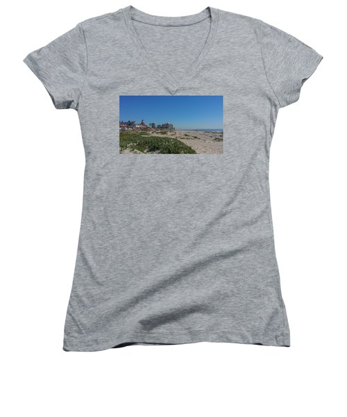 Dunes At The Del Women's V-Neck T-Shirt