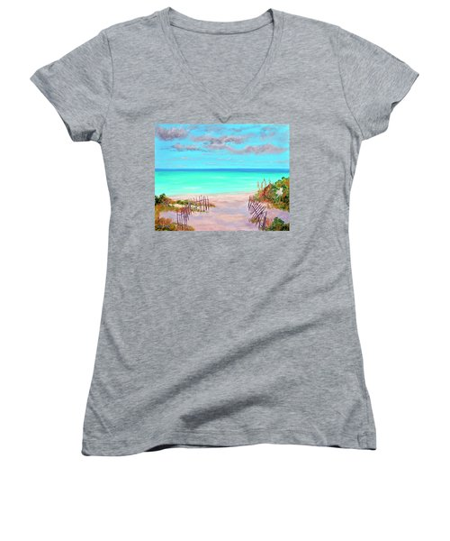 Dunes Beach 2 Women's V-Neck T-Shirt