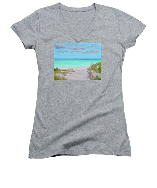 Dunes Beach Women's V-Neck T-Shirt