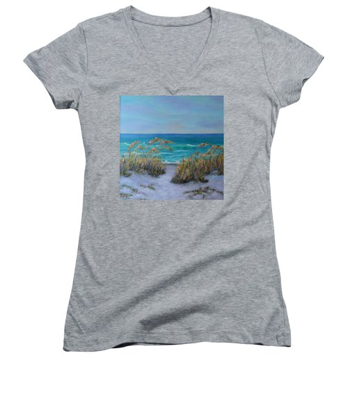Dunes Path Ocean Painting Part 1 Women's V-Neck