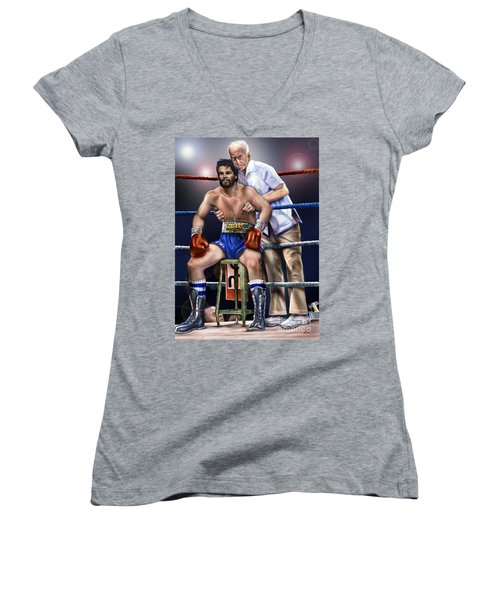 Duran Hands Of Stone 1a Women's V-Neck