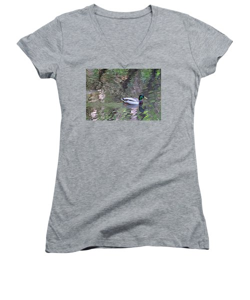 Duck Patterns Women's V-Neck