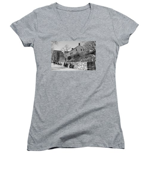 Dyckman Farmhouse  Women's V-Neck (Athletic Fit)