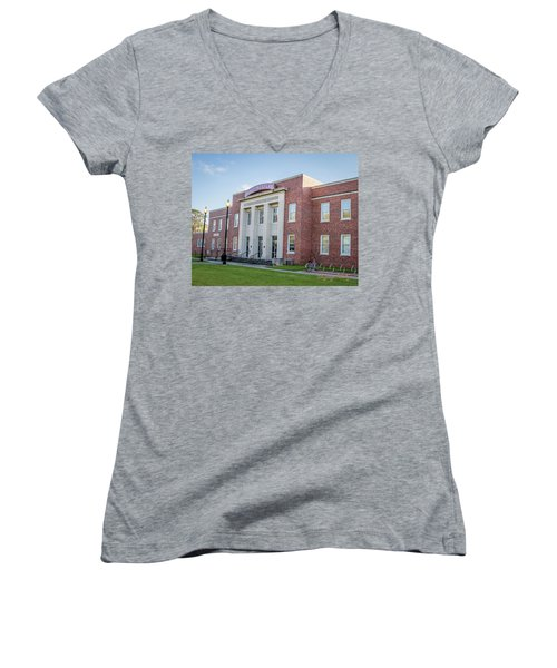 E K Long Building Women's V-Neck T-Shirt