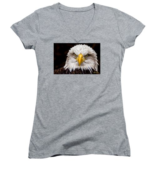 Defiant And Resolute - Bald Eagle Women's V-Neck