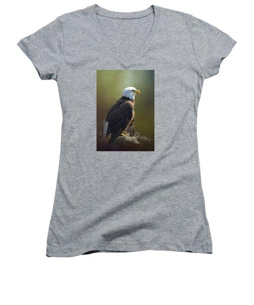 Eagles Rest Ministries Women's V-Neck T-Shirt (Junior Cut) by Carla Parris