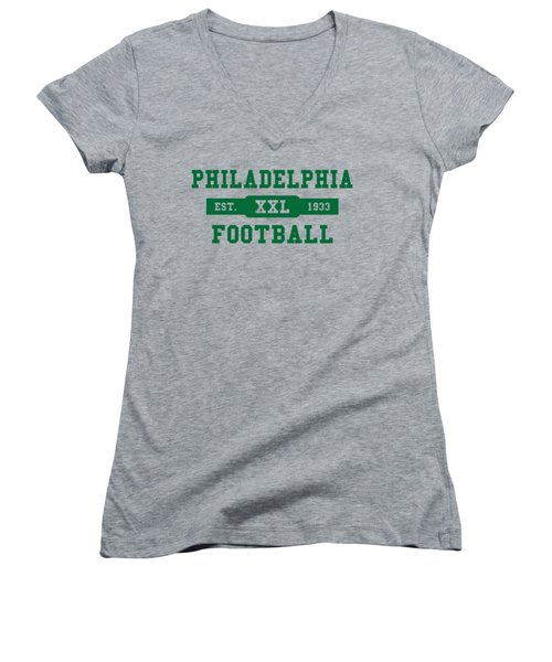 Eagles Retro Shirt Women's V-Neck (Athletic Fit)