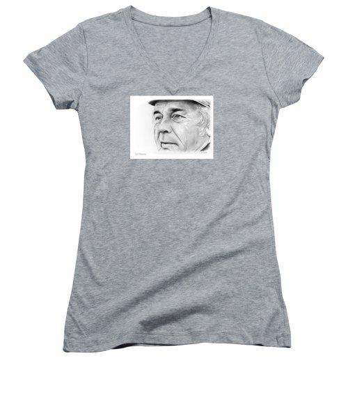 Earl Weaver Women's V-Neck T-Shirt (Junior Cut) by Greg Joens