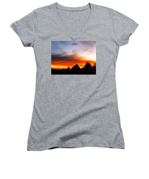 Earlier Women's V-Neck T-Shirt (Junior Cut) by Adam Cornelison
