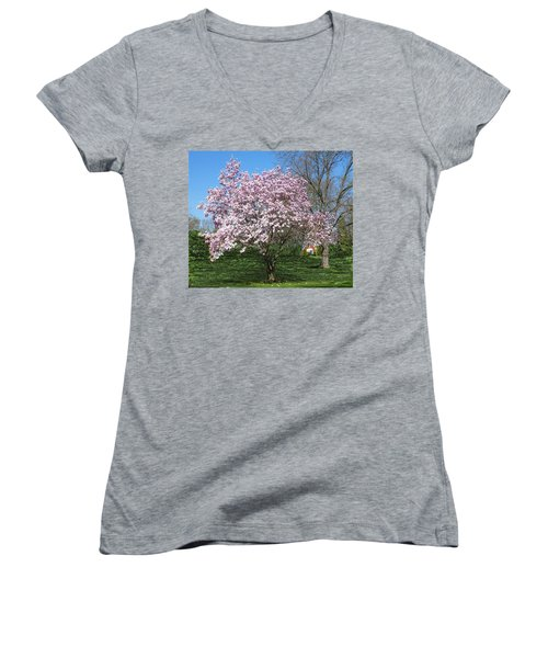 Early Blooms Women's V-Neck