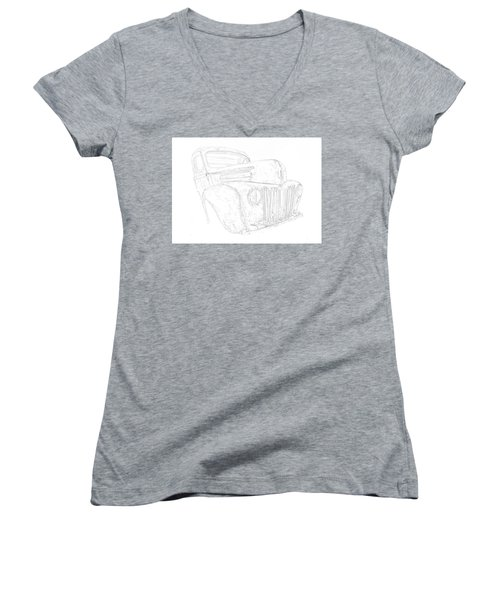 Early Ford Truck Women's V-Neck
