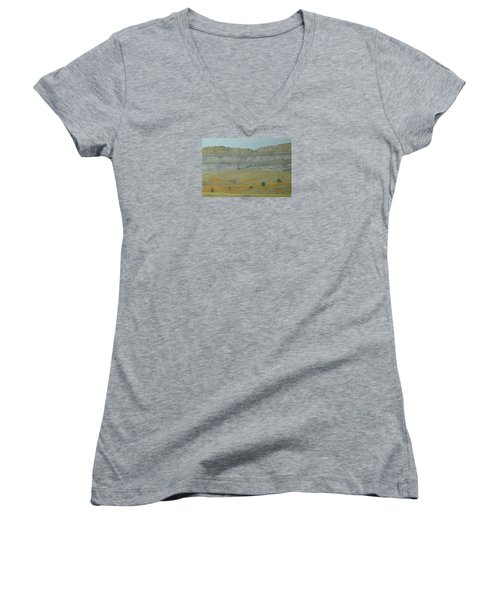 Early May On The Western Edge Women's V-Neck
