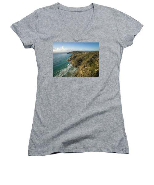 Early Morning Coastal Views On Moreton Island Women's V-Neck