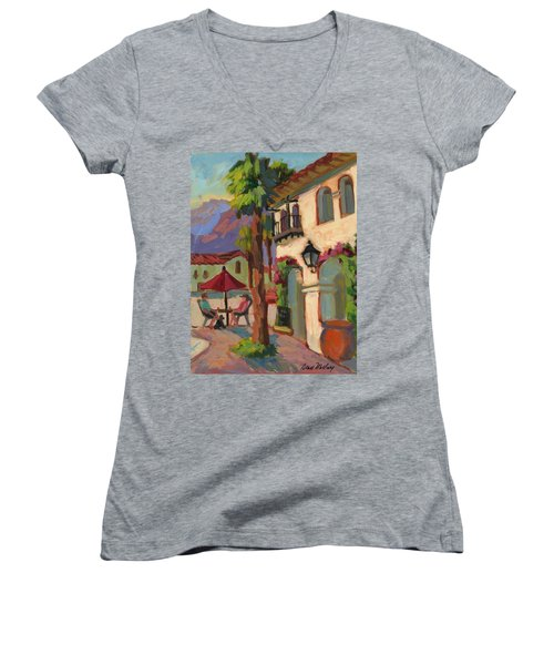 Early Morning Coffee At Old Town La Quinta Women's V-Neck