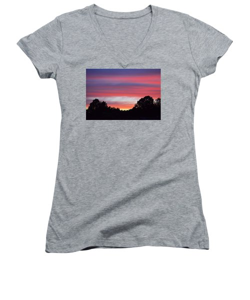 Early Morning Color Women's V-Neck T-Shirt (Junior Cut) by Kathy Eickenberg