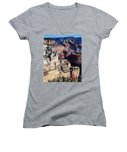 Early Morning From The South Rim Women's V-Neck T-Shirt