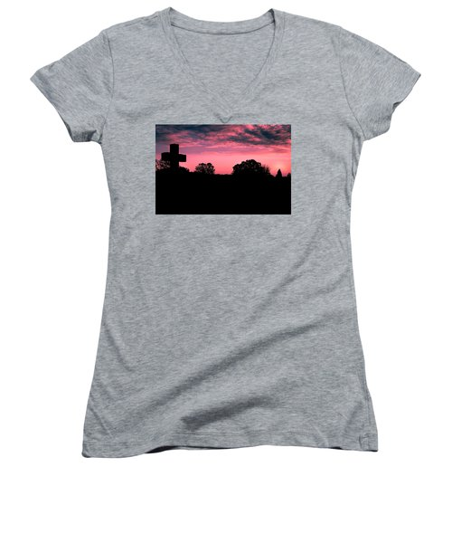 Early On The Hill Women's V-Neck