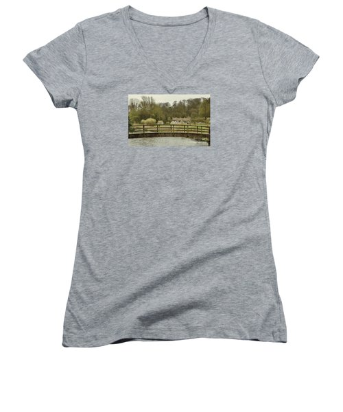 Early Spring In The Counties Women's V-Neck T-Shirt