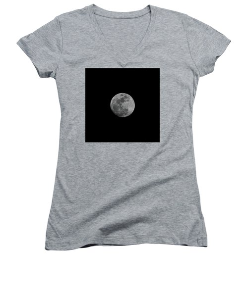 Early Spring Moon 2017 Women's V-Neck (Athletic Fit)